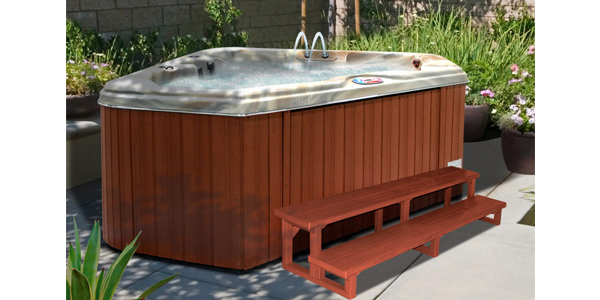 American Spas 2 Person Hot Tub outside view