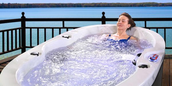 American Spas 2 Person Hot Tub model am-420b full view