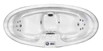 QCA Spas 2 Person 16-Jet Oval Hot Tub top view